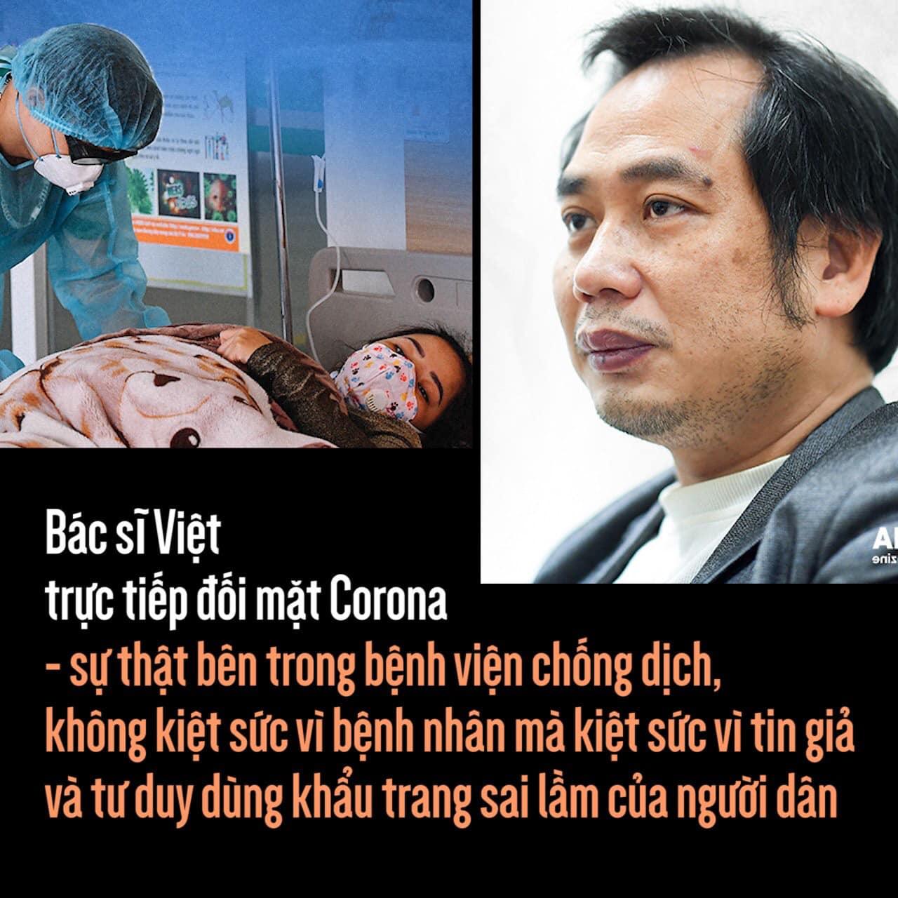 Bác sĩ Việt trực tiếp đối mặt Corona - sự thật bên trong bệnh viện chống dịch, không kiệt sức vì bệnh nhân mà kiệt sức vì tin giả và cách dùng khẩu trang sai lầm của người dân